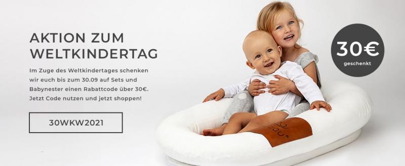Weltkinderwoche bei Lalizou - Spare zusätzlich 30€ auf deinen Einkauf!