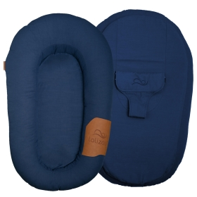 Lalizou babynest Baumwolle Blue with Patch Baumwolle Blue with Patch