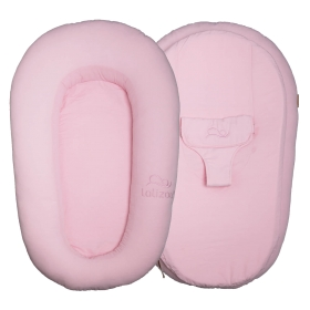 Lalizou babynest Baumwolle Pink with Stick Baumwolle Pink with Stick